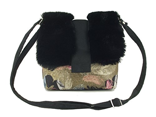 Black LONI Desire Fur LONI Desire Body Cross Shoulder Bag Faux qd0awd