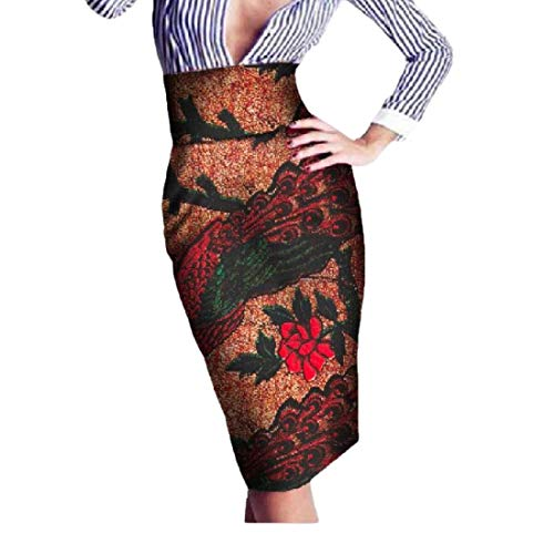 Comaba Womens Wrap Africa Highwaist Batik Print OL Fashion Bodycon Skirt 3 XL by Comaba