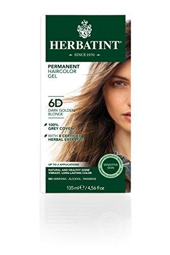 Herbatint Permanent Herbal Hair Color Gel 6d Dark Golden Blonde - 4 Oz