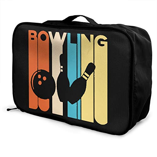 bd668630d8 Vintage Bowling Unisex Travel Duffel Bag Waterproof Fashion Lightweight  Large Capacity Portable Luggage Bag