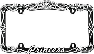 cruiser accessories 22635 chromeblack princess license plate frame