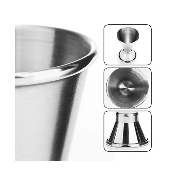 com-four® 2x misurino in acciaio inossidabile - Bar per alcolici e cocktail - Misurino per bar e cucina - Misurazione e dosaggio (Misurino - 02 pezzi) 2 spesavip