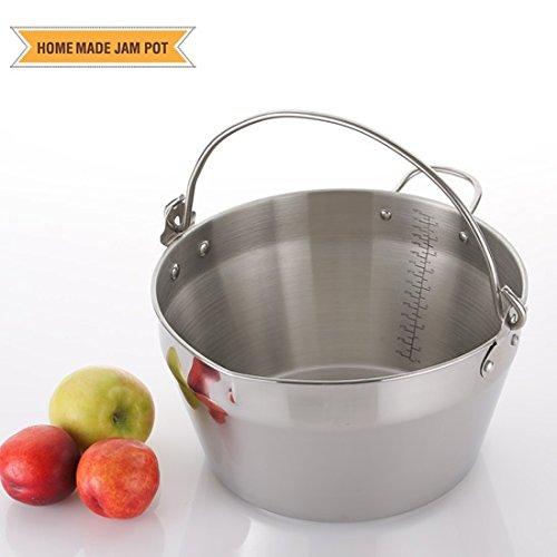 Jam Making Maslin Pan Stainless Steel Preserve Pot & Handle Bucket,Camping Pan (9L-9QT)