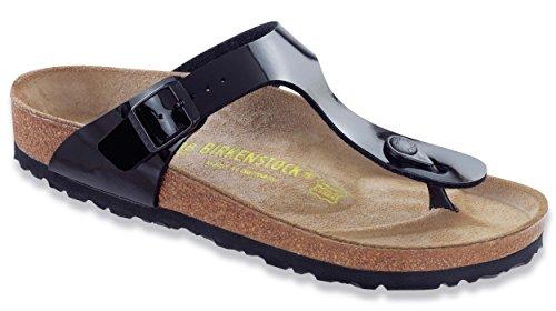 Birkenstock Women's GIzeh Thong Sandal, Black Patent, 41 N EU/10-10.5 2A(N) US