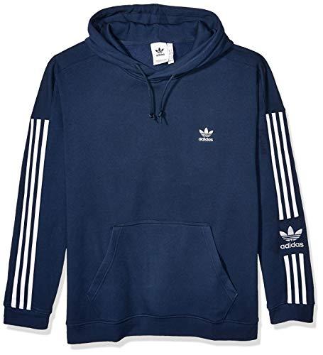 adidas Originals Men's Lock Up Hooded Sweatshirt, collegiate Navy, X-Large