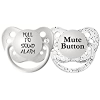 Ulubulu Expression Pacifier Set, Unisex, Pull to Sound Alarm and Mute Button,...