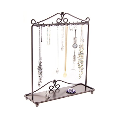 Angelynn's Necklace Holder Organizer Jewelry Tree Stand Storage Rack, Calla Rubbed Bronze by Angelynn's (Image #6)