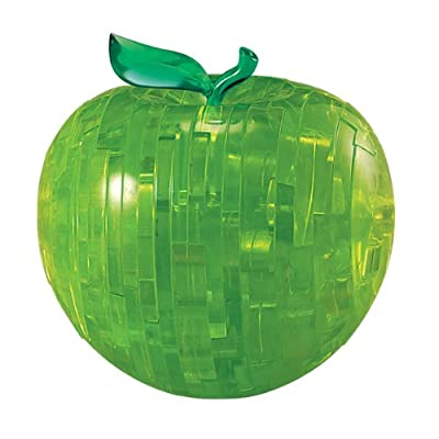 Bepuzzled Original 3D Crystal Puzzle - Apple, Green - Fun yet challenging brain teaser that will test your skills and imagination, For Ages 12+: Toys & Games
