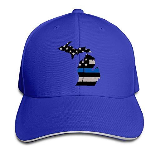 an State Thin Blue Line Peak Cap Cotton Baseball Hat for Unisex ()
