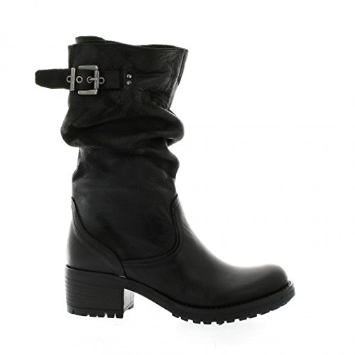 Cuir Noir Boots Pao Boots Nubuck Pao qv07qFnw
