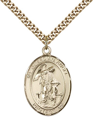 14kt Gold Filled Guardian Angel Pendant with 24
