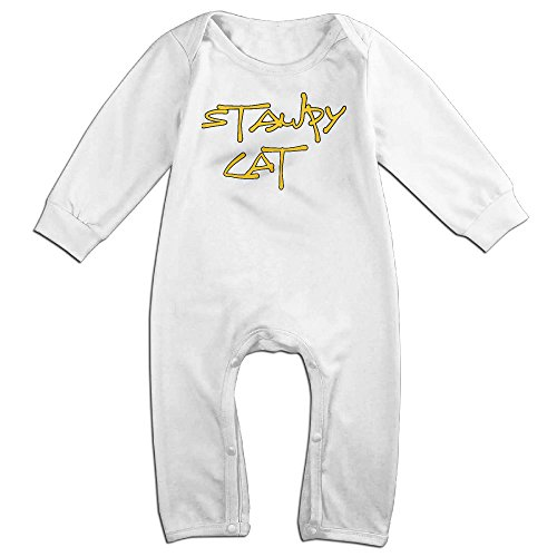 Z-Jane Game Stamp Cat Newborn Babys Long Sleeve Baby Climbing Clothes White 6 M