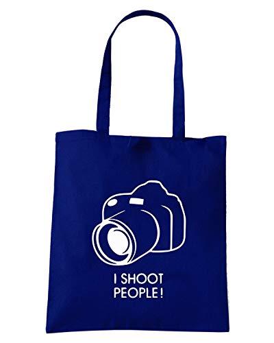 Borsa Shopper Blu Navy TM0509 I SHOOT PEAPLE