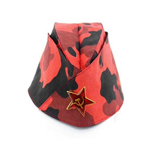 Russian Army Cap Tricorne Green Camo Bonnet Star Logo Women Sailor Military Stage Performance Dance Hats Chinese Boat Caps 19