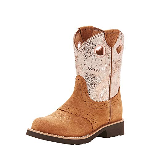 Ariat Baby Fatbaby Cowgirl Western Boot, Dark Peanut/Golden Pink, 10 M US Toddler ()
