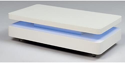 Table Basse Lumineuse Blanc Laque Design Ibiza Amazon Fr Cuisine