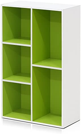 Furinno 5 Cube Reversible Shelf 11069WH