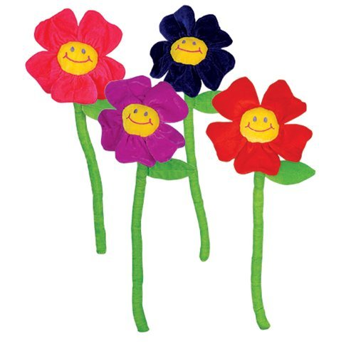 Face Flower Smiley (Rhode Island Novelty Plush Daisies (1 dz))