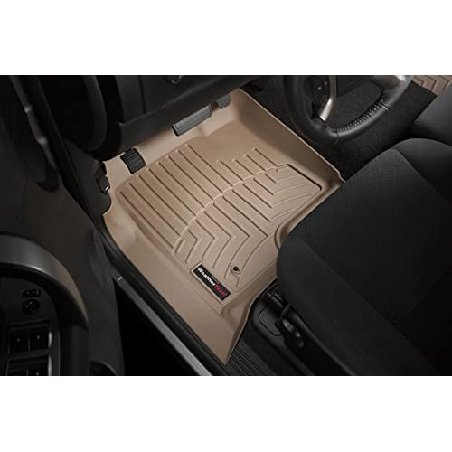 2007 - 2014 Chevrolet Suburban Front Set - WeatherTech Custom Floor Mats Liners - Tan for cheap