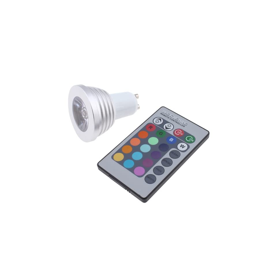 3W 16 Colors Remote RGB LED Light Bulb for Decoration Party Bar Restaurant House   With Flash, Strobe, Fade, Smooth, Static Mode