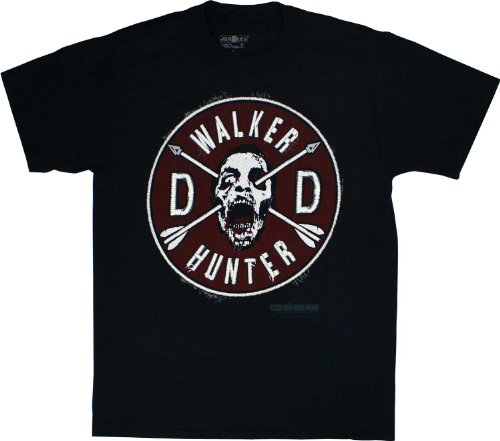 Walking Dead The Daryl Faux Patch & Wings Adult T-shirt 2XL