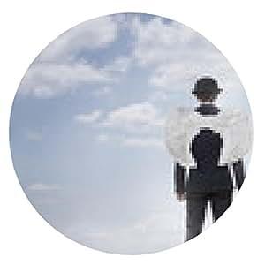 alfombrilla de ratón Ángel del asunto contra el cielo azul con copia espacio - ronda - 20cm