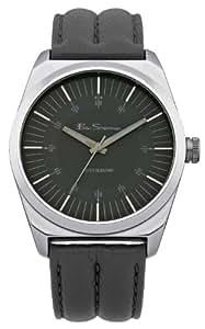 Ben Sherman BS007 - Reloj analógico de cuarzo para hombre con correa de piel, color gris
