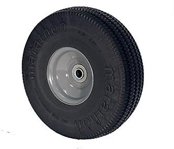 """RWM Casters SF1 10"""" Diameter Maintenance Free Solid Foam Hand Truck Wheel, 3"""" Width, 5/8"""" Axle"""