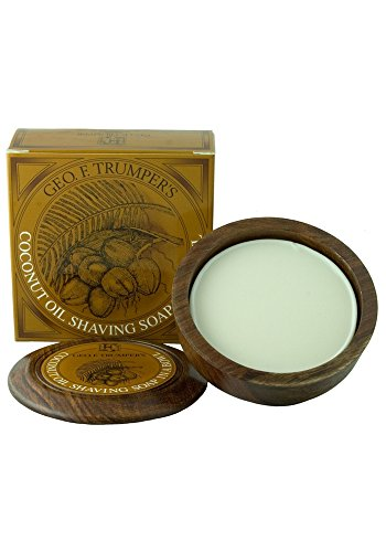 (Geo F. Trumper Coconut Oil Shaving Soap in Wooden Bowl)