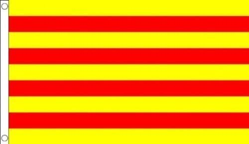 España Cataluña 5 x3 (150 cm x 90 cm) bandera por 1000 banderas: Amazon.es: Jardín