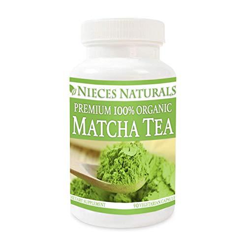 100% Organic Matcha Tea Capsules: 500 mg, 90 count