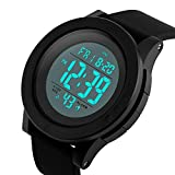 Mens Digital Watch with Classic Stopwatch Electronic LCD Backlight Military Time, 50M Waterproof Sports Watch for Mens Wristwatch with Large Dial and Number