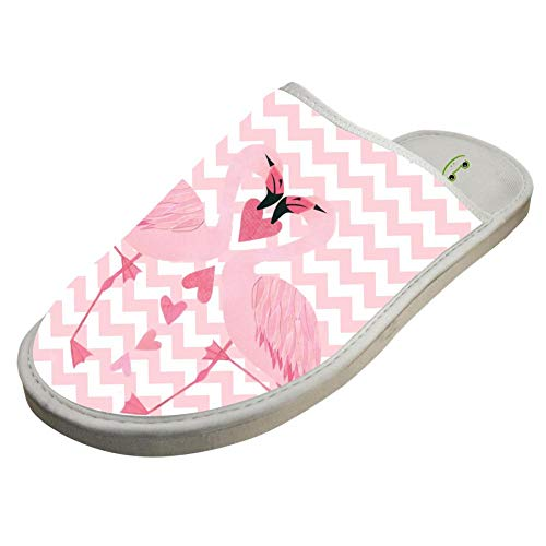 Couples Warm House Pink Adult Keep Cotton Unisex White Slippers Hearts House Flamingo Lover Crocs 4Tqz7