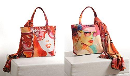 Multipurpose Yuga Handbags Multicolour With Printed Bags 11 Women X Fashion 16 Scarf Inches Trendy Shopping Digital 4rq4wzxBf