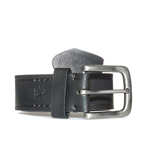 Original Penguin Women's Nixon Coated Leather Belt LXL Black