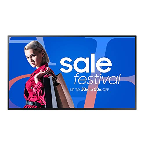 Samsung QB65R 65 inch 4K UHD 3840x2160 LED Commercial Signage Display for Business with HDMI, Wi-Fi, and 3-Year Warranty, 350 nit (LH65QBREBGCXZA), Black