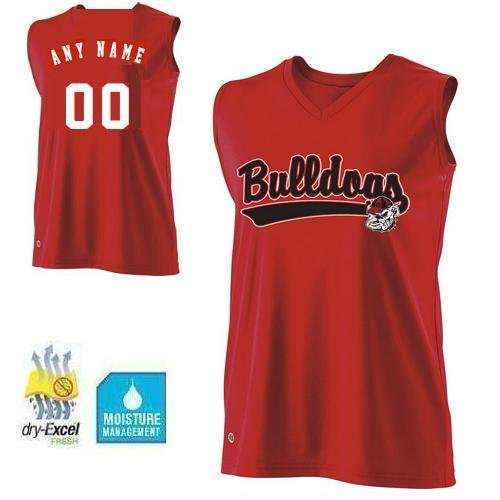 Ladies Small Georgia Bulldogs CUSTOMIZED Sleeveless Cool-Base Wicking dry-Excel NCAA Officially Licensed Replica Jersey Shirt
