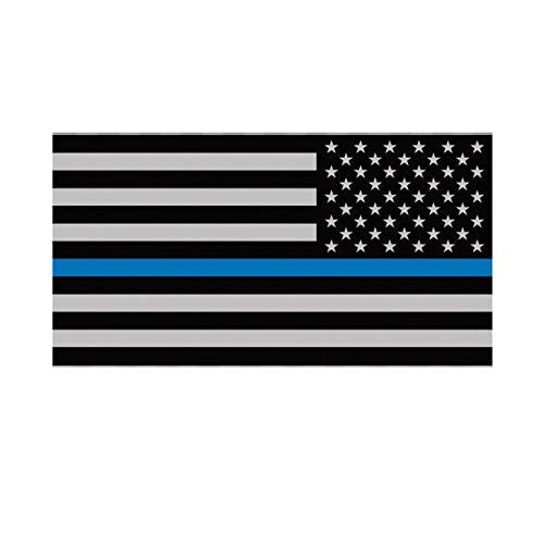 (Morgan Graphics Reverse Thin Blue Line Subdued American Flag Sticker Law Police USA US Vinyl Decal Sticker Car Waterproof Car Decal Bumper Sticker 5