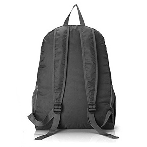 Escalada del recorrido del sistema de calidad superior Mochila impermeable plegable Estudiantes Mochila bolsas de deporte al aire libre del alpinismo, bolsos azules Grey