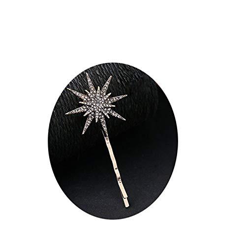 Branded Design Star Moon Rhinestone Hair Clip Hair Pin Fashion Hair Accessories Women Jewelry medium - Twin Rhinestones Stars