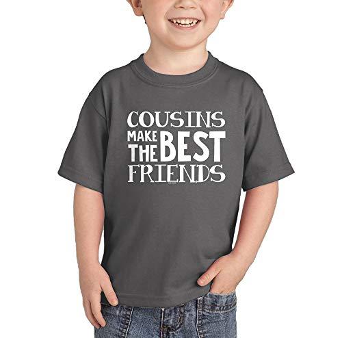 Cousins Make The Best Friends T-Shirt (Charcoal, 3T)