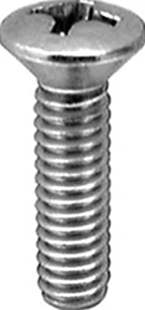 """Clipsandfasteners Inc 100 #10 X 1/""""Phillips Oval #6 Head Tapping Screws Chrome"""
