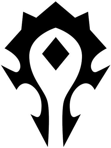 World Of Warcraft Horde (set of 2) silhouette stencil artwork by ANGDEST – Waterproof Vinyl Decal Stickers for Laptop Phone Helmet Car Window Bumper Mug Tuber Cup Door Wall Decoration