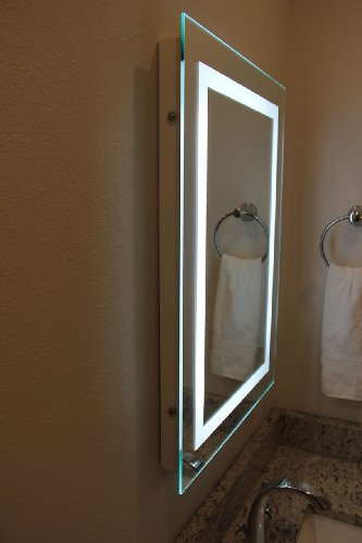 Led Backlit Mirror With Border By Lighted Image Amazonin Home