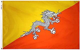 product image for Annin Flagmakers Model 190644 Bhutan Flag Nylon SolarGuard NYL-Glo, 4x6 ft, 100% Made in USA to Official United Nations Design Specifications
