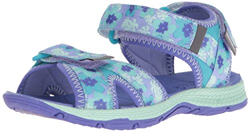 (Merrell Girls' Surf Strap 2.0 Sport Sandal, Blue, 2 Medium US Little Kid)