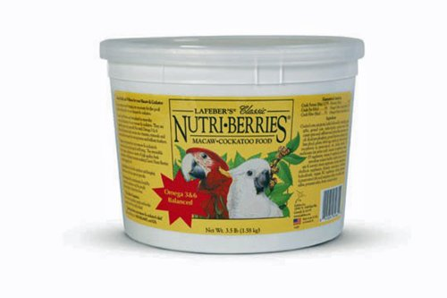 Lafeber's Classic Nutri-Berries for Macaw / Cockatoo 3.5 lb. Tub, My Pet Supplies