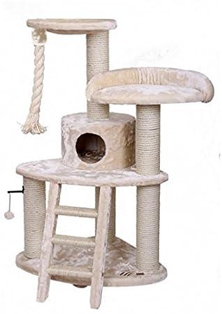 - XL para gatos Árbol Rascador para gatos gato cueva gato Dormir Espacio Crema 66 x 66 x 138 cm: Amazon.es: Productos para mascotas