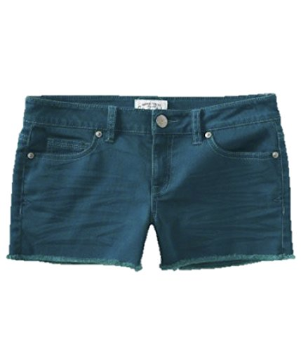 Aeropostale Women's Shorty Jean Shorts Dark Teal 0646 9/10