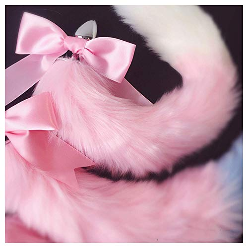 Women Viberate Toys Būtt Play Plug Women Toys Cute Soft Cat Ears Headbands with T-àil Bow Metal Būtt A-nàl Plug Erotic Cosplay Accessories Adult Happy Toys for Couples,White Black,T-Shirt by BJYC (Image #4)